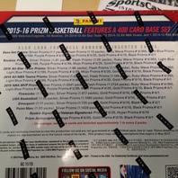 2015/16 Panini Prizm Basketball 20 Pack Hobby Box (Factory Sealed) 15/16