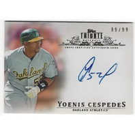 Yoenis Cespedes 2013 Oakland Athletics Topps Tribute Certified Autograph /99