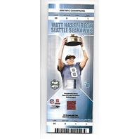 MATT HASSELBECK 2005 NFC Champions Game Ticket Card patch jersey football
