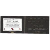 Ryan Williams Arizona Cardinals  Panini Playbook Rookie Autograph Patch RC /49