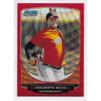 ADALBERTO MEJIA 2013 Topps Bowman Chrome Red Wave Refractor /25 Giants