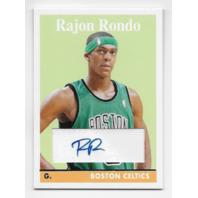 RAJON RONDO 07-08 Topps Autograph/65 Boston Celtics Autograph
