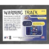 CAL RIPKEN JR 2001 Donruss Studio Warning Track Stadium wall piece #WT-23