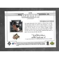 CAL RIPKEN JR 2001 Upper Deck Pros & Prospects Jersey Specialty patch #S-CR