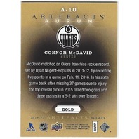 Connor McDavid 2016 Artifacts Aurum Gold #A-10 Edmonton Oilers Playoffs