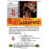 LUTHER HEAD 2005-06 05/06 Rookie Debut Hotagraphs Signature Autograph Card Auto