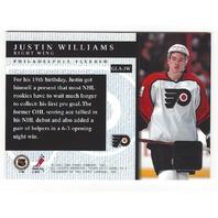 Justin Williams Philadelphia Flyers Topps Certified Autograph Card #GLA-JW