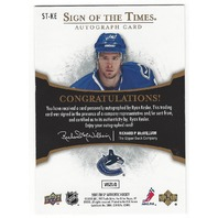 Ryan Kesler Sp Authentic Sign of the times Autograph card #ST-KE