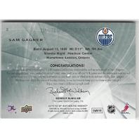 Sam Gagner Edmonton 2012 Oilers Sp Authentic Limited Patch Auto /100