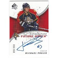 Michael Frolik 2008-09 Florida Panthers Future Watch Rookie Autograph /999