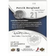 Patrick Berglund St Louis Blues 2008-09 Future Watch Rookie Autograph /999