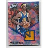 PATRICK MCCAW 2016-17 Panini Day NBA Galactic Window patch /25 Warriors RC