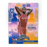 REGGIE BULLOCK 2013-14 Panini Crusade Blue Refracor RC /5 Los Angeles Clippers