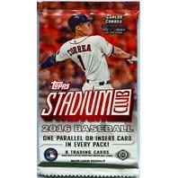 2016 Topps Stadium Club Baseball Hobby 8 Card Pack (Sealed) (Random)