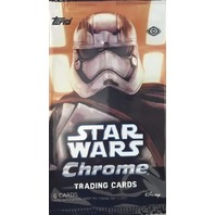 (3)Three 2016 Topps Star Wars Chrome The Force Awakens 6 Card Hobby Sealed Pack