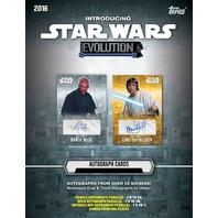 2016 Topps Star Wars Evolution 24 Pack Hobby Box (Sealed)