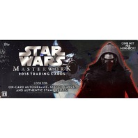 2016 Topps Star Wars Masterwork Trading Cards 4 Pack Hobby Box (Sealed)