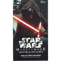 2016 Topps Star Wars Masterwork Trading Cards 5 Card Hobby Mini-Box/Pack (Sealed