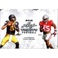 2018 Leaf Trinity Football Hobby Box (Sealed)