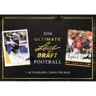 2016 Leaf Ultimate Draft Football Hobby Box (Sealed)