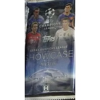 2016 Topps UEFA Champions League Showcase Soccer Sealed Hobby Pack (6 Cards)