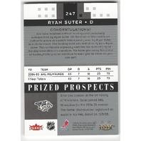 Ryan Suter 2006 Fleer Hot Prospects Nashville Predators Autograph Patch /349