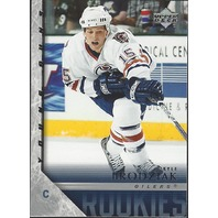 Kyle Brodziak Edmonton Oilers 2005-06 UpperDeck Series Two Young Guns RC #468