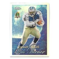 EMMITT SMITH 1996 Topps Chrome Tide Turners Refractor #TT11 Dallas Cowboys