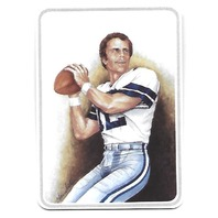 ROGER STAUBACH 1987 Gartlan USA Ceramic card #12 Dallas Cowboys