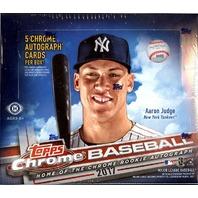 2017 Topps Chrome Baseball HTA Jumbo Hobby 12 Pack Box (Factory Sealed)