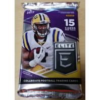 2017 Panini Elite Collegiate Draft Picks Football Hobby 15 Card Pack (Sealed)