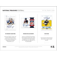 2017 Panini National Treasures Football 8 Card Hobby Box (Factory Sealed)