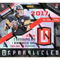 2017 Panini Unparalleled Football Hobby 16 Box Case (Sealed)