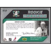 Corey Perry Anaheim Mighty Ducks 2005-06 UpperDeck Hockey Rookie Threads
