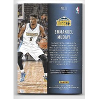 EMANUEL MUDIAY 2016-17 Panini Day NBA Galactic Window patch /25 Nuggets
