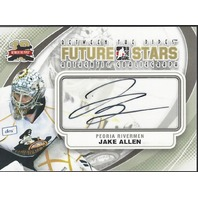 Jake Allen 2011-12 In the Game ITG Between the Pipes Autograph Auto A-JA Blues