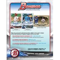 2018 Bowman Baseball (12 Pack) Hobby Jumbo Box (Factory Sealed)