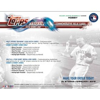 2018 Topps Series 1 Baseball Jumbo Hobby 6 Box Case (Sealed) w/ 12 Silver Packs