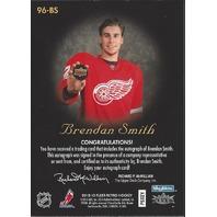 Brendan Smith 2012-13 Fleer Retro Autographics Auto 96-BS Rangers 1996-97