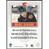 Marc Savard Pacific 2002 Jersey Relic Calgary Flames