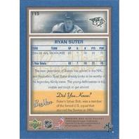 Ryan Suter Nashville Predators 2005-06 Bee Hive Hockey Blue