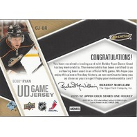 Bobby Ryan 2011-12 Upper Deck Series One Hockey #GJ-BR Game Used Jersey
