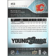 Markus Granlund Calgary Flames 2014-15 UpperDeck Series Two Hockey Young Guns RC #453
