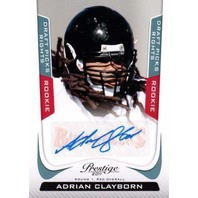 ADRIAN CLAYBORN Prestige Draft Picks Rights Rookie Autograph Auto Card /599