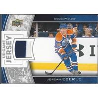 Jordan Eberle 2013-14 Upper Deck UD Series 1 Game Jersey GJJE Edmonton Oilers S1