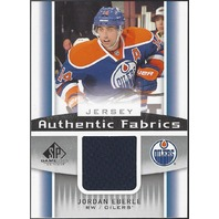 Jordan Eberle 2013-14 Upper Deck UD SP Game Used Authentic Fabrics Jersey Oilers