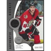 Patric Eaves 2005-06 UD SP Game Used Memorabilia Rookie RC Edmonton Oilers /999