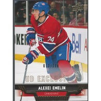 ALEXEI EMELIN 2013-14 UD Upper Deck Series 2 Exclusives /100 Montreal Canadians
