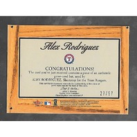 ALEX RODRIGUEZ 2003 Fleer Tradition Lumber Company game used bat piece /57