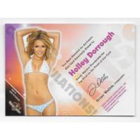 Holly Dorrough 2011  Benchwarmer Kiss Limited Card